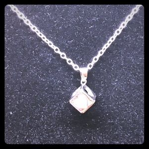 Swarovski Elements Jewelry - Crystal in a Heart Box Necklace [JW-17]